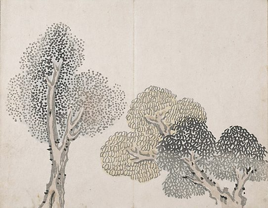 Untitled (a tree with small leaves) - Ike no Taiga