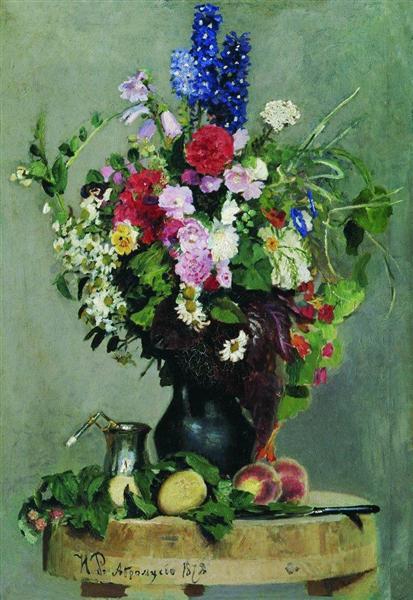 A bouquet of flowers, 1878 - Ilya Repin
