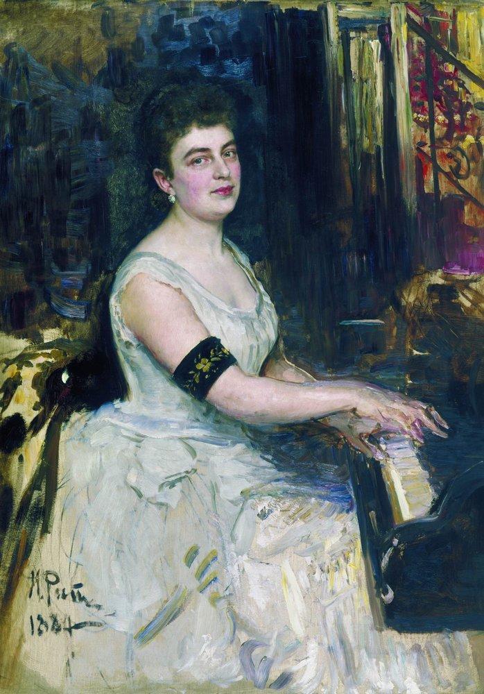 Portrait of pianist M.K. Benoit, 1887