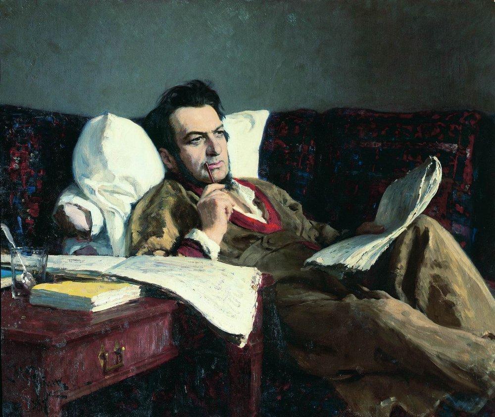 Portrait of the Composer Mikhail Glinka, 1887