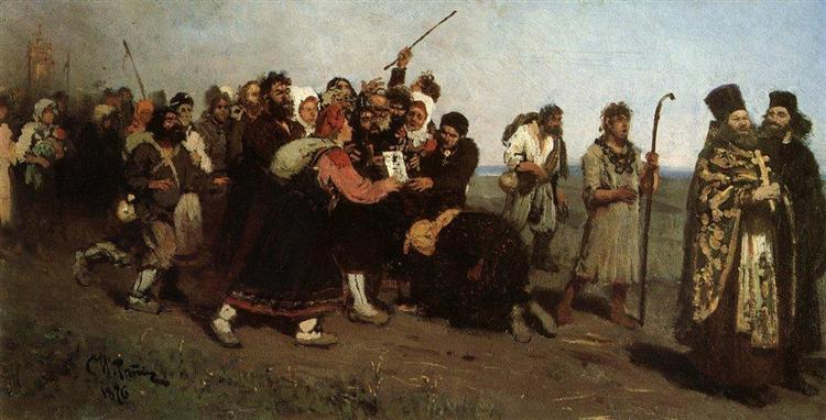 Religious Procession, 1877 - Ilya Repin