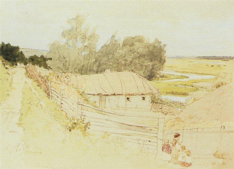 The Village of Mokhnachi near Chuguyev, 1877 - 列賓