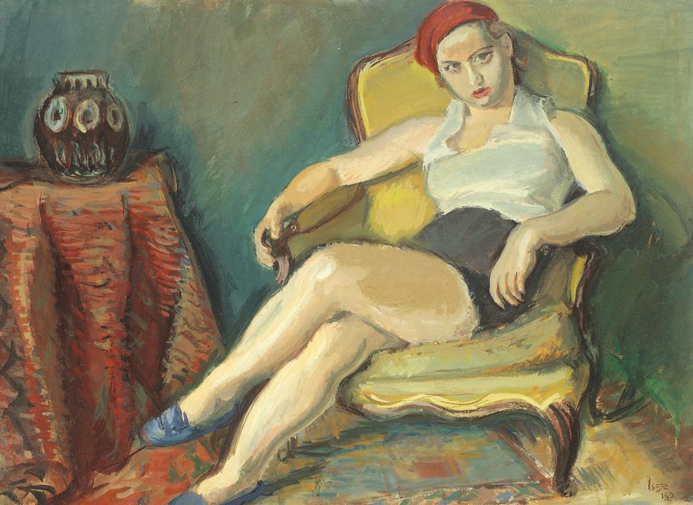 Woman in Yellow Chair, 1933