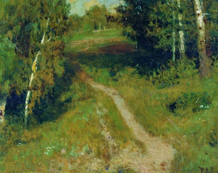 A birch grove - Isaac Levitan