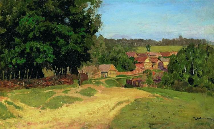 Small village, c.1885 - Isaac Levitan