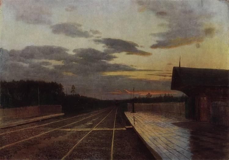 The evening after the rain, 1879 - Ісак Левітан