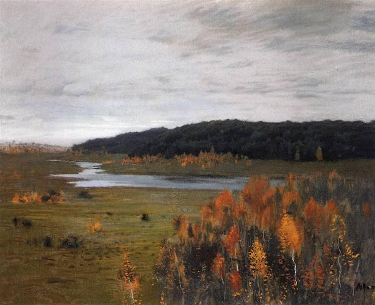 Valley of the River. Autumn., 1896 - Isaac Levitan