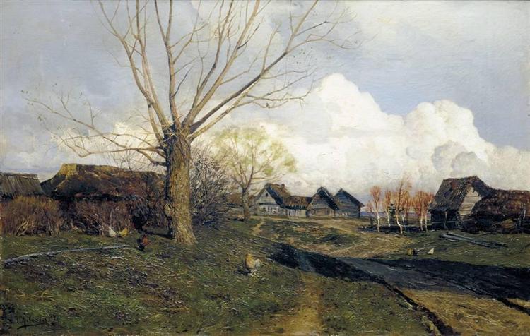Village Savvinskaya near Zvenigorod, 1884 - Isaak Iljitsch Lewitan