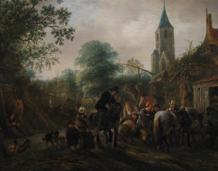 The Halt at the Inn, 1645 - Isaac van Ostade