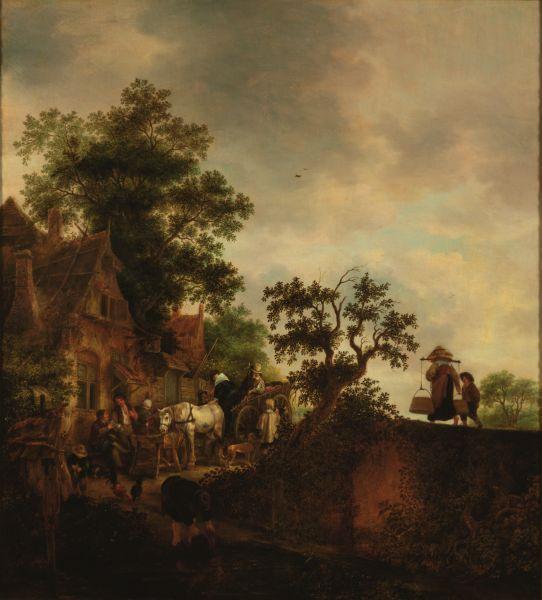 Travellers Halting at an Inn, 1645 - Isaac van Ostade