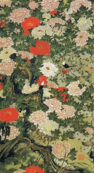 Botan shoukinzu - Ito Jakuchu