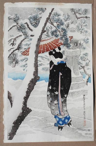 The Grounds of a Shinto Shrine in Snow, 1930