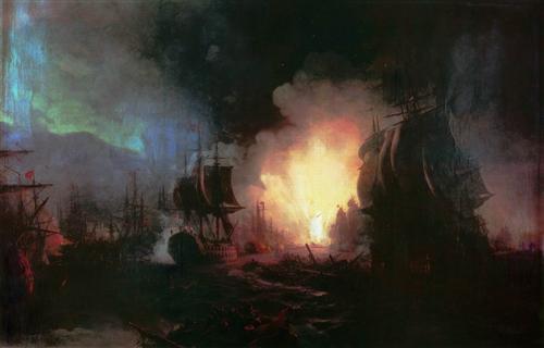 Battle of Chesma - Ivan Aivazovsky
