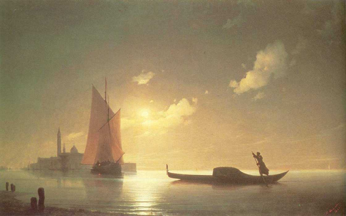 Gondolier at Sea by Night, 1843