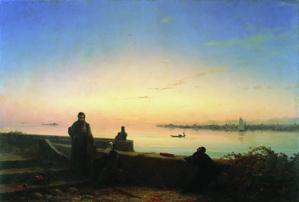 Mhitarists on island of St. Lazarus, 1843