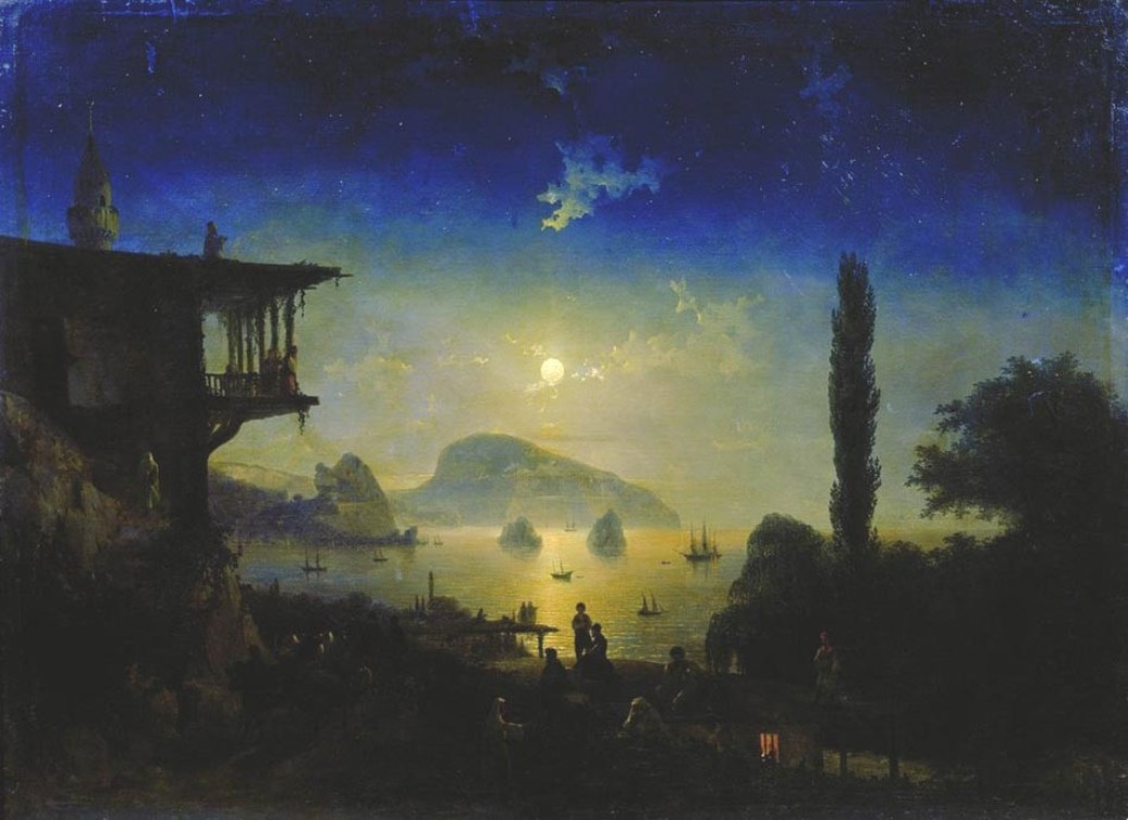 Moonlit Night on the Crimea. Gurzuf, 1839