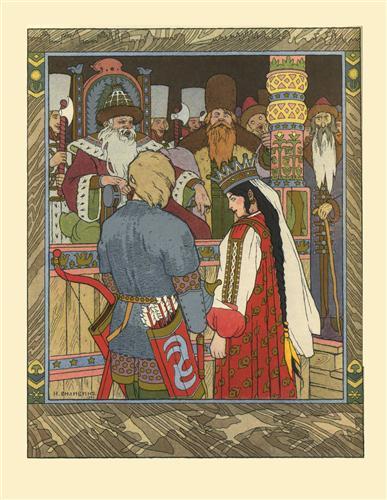 The tale of prince ivan, the firebird and the grey wolf - ivan bilibin