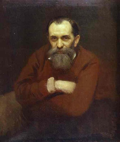 Portrait of the Artist Vasily Perov, 1881 - Ivan Kramskoy