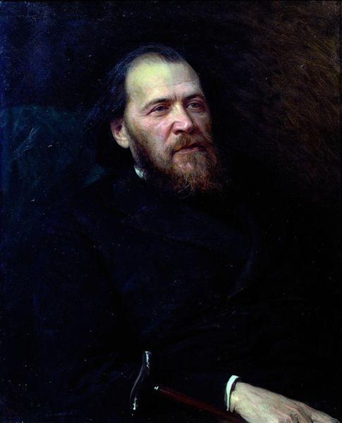 Portrait of the poet Yakov Polonsky - Ivan Kramskoy