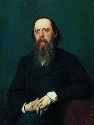 Portrait of the writer mikhail evgrafovich saltykov n shchedrin