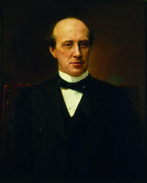 Portrait of Yuri Stepanovich Nechaev-Maltsev, 1885 - Ivan Kramskoy