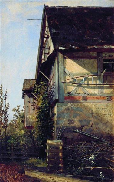 Little House in Dusseldorf, 1856 - Ivan Shishkin
