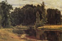 Pond in a Old Park - Ivan Shishkin
