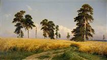 The Field of Wheat - Ivan Shishkin