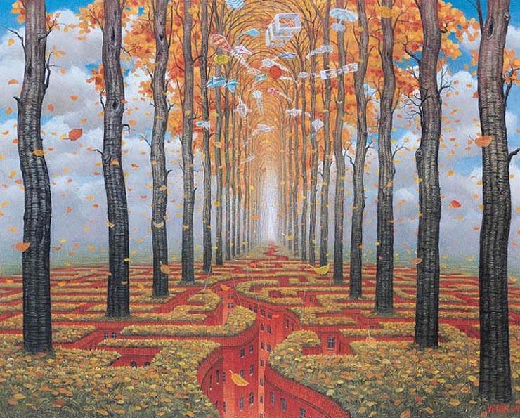 Jacek Yerka Autumn