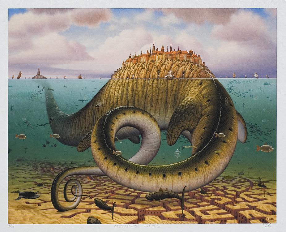 Aide - peinture surrealiste