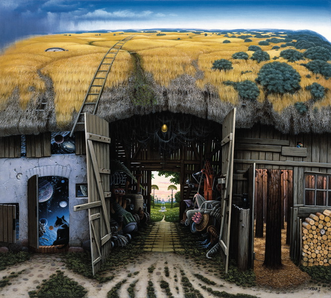 The Epitaph by Jacek Yerka