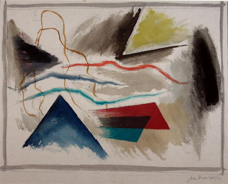 Blue Pyramid, 1947 - Jack Bush