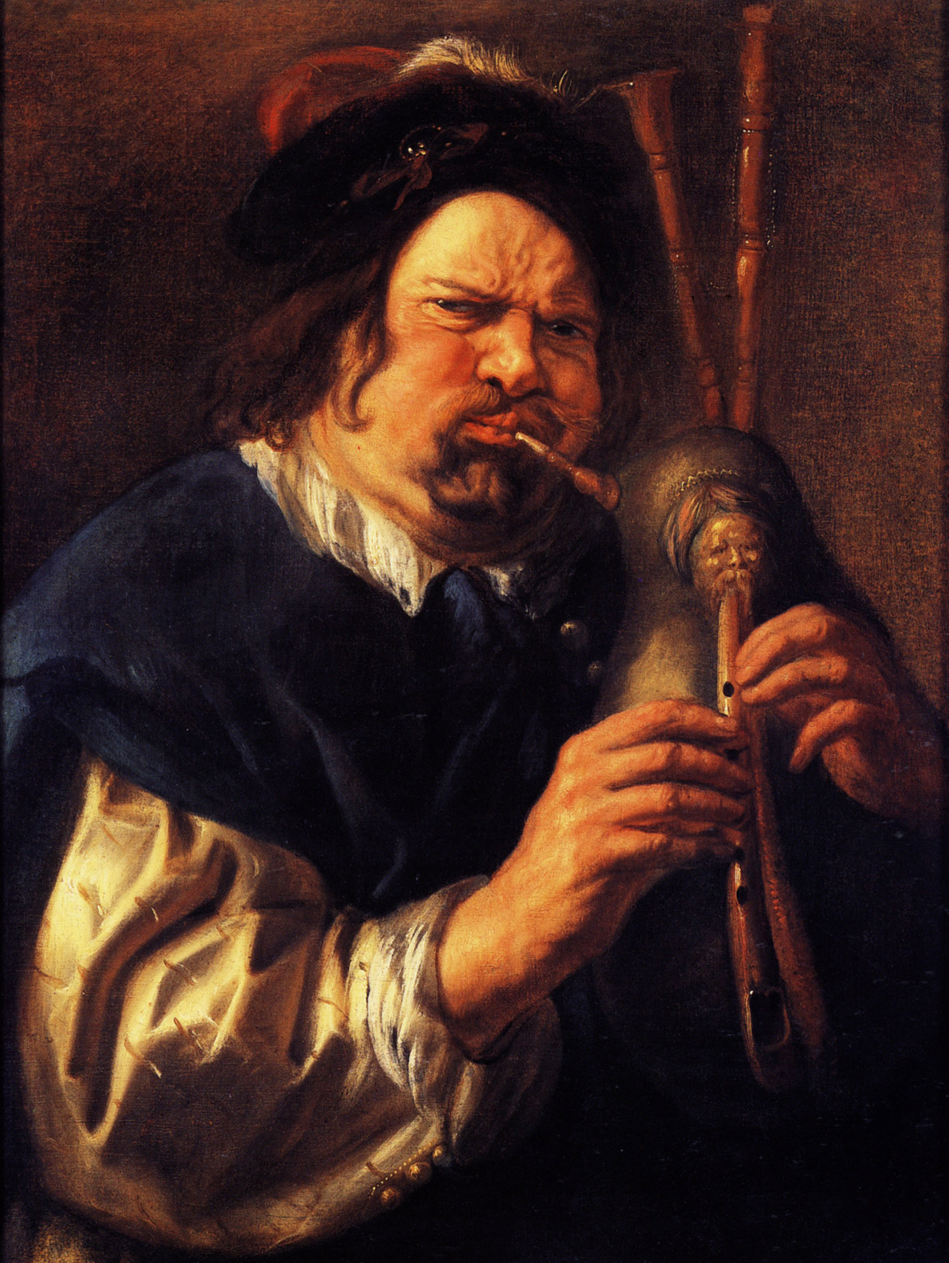 Jacob Jordaens Bagpiper-1644