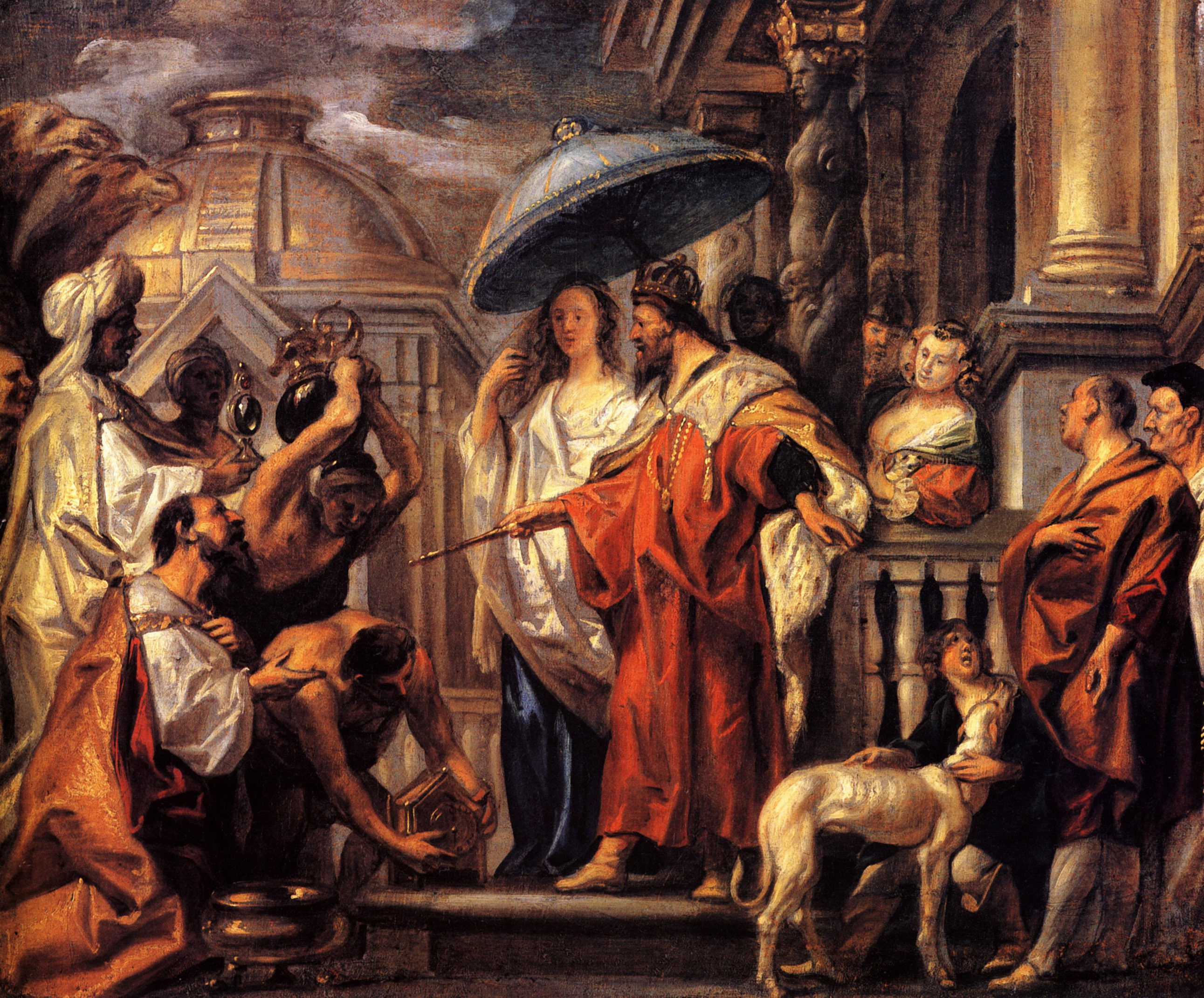 The tribute the Caliph Harun al-Rashid to Charlemagne, 1663 - Jacob Jordaens