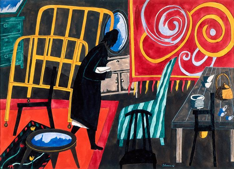 The Apartment, 1943 - Jacob Lawrence