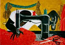 The Seamstress - Jacob Lawrence