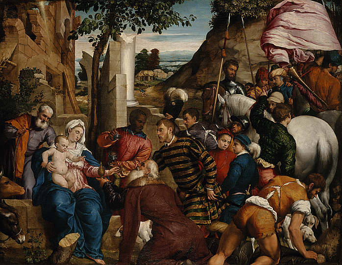 The Adoration of the Kings, 1544 - Якопо Бассано