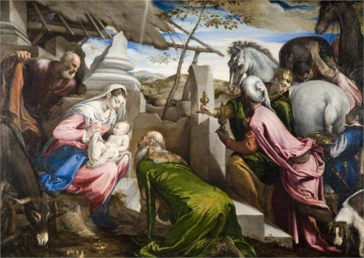 The Adoration of the Magi, 1569 - Jacopo Bassano