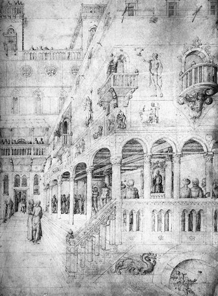 Flagellation, 1450 - Jacopo Bellini