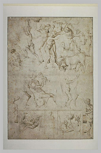 Sketch of figures and scenes from the antique age - Jacopo Bellini
