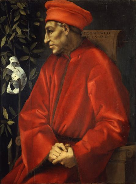 Portrait of Cosimo de' Medici the Elder, c.1520 - Джакопо Понтормо