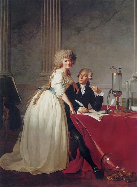 Portrait of Antoine-Laurent and Marie-Anne Lavoisier, 1788 - Jacques-Louis David