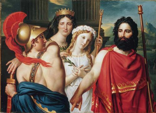 The Anger of Achilles  - Jacques-Louis David