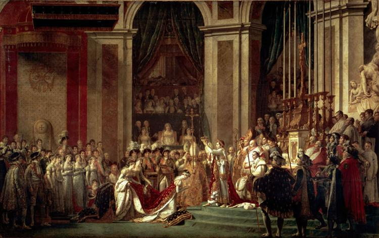 The Consecration of the Emperor Napoleon and the Coronation of the Empress Josephine by Pope Pius VII, 2nd December 1804 - David Jacques-Louis