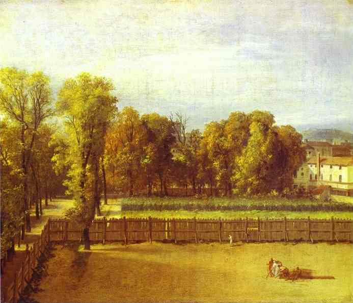 View of the Luxembourg Gardens in Paris, 1794 - Jacques-Louis David