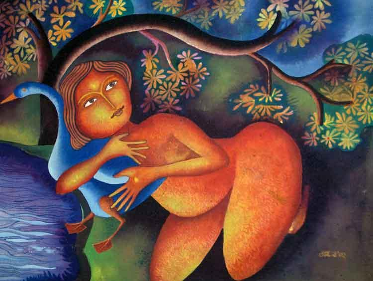 Lady With Duck I, 2002 - Jahar Dasgupta
