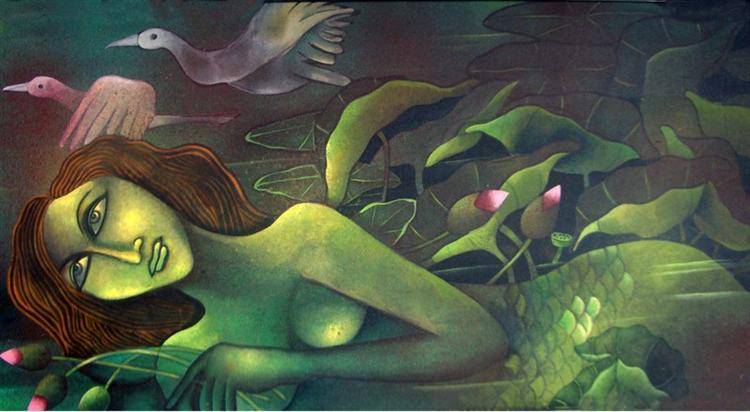 Mermaid in Lotus Pond III, 2008 - Jahar Dasgupta