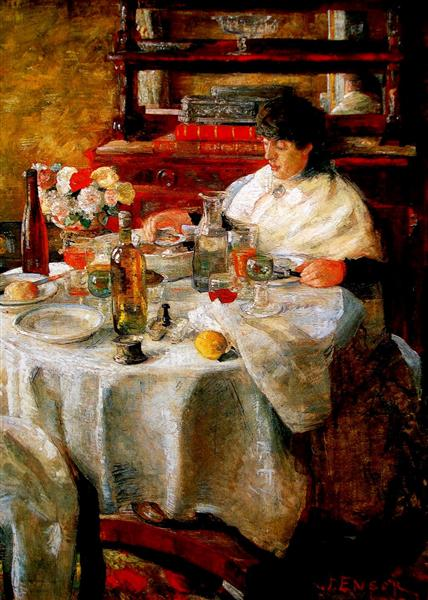 The Oyster Eater, 1882 - James Ensor