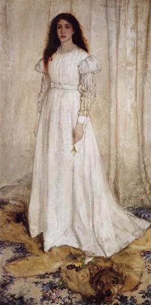 Symphony in White no.1: The White Girl Portrait of Joanna Hiffernan, 1862 - James McNeill Whistler