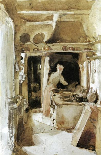 The Kitchen, 1858 - James McNeill Whistler